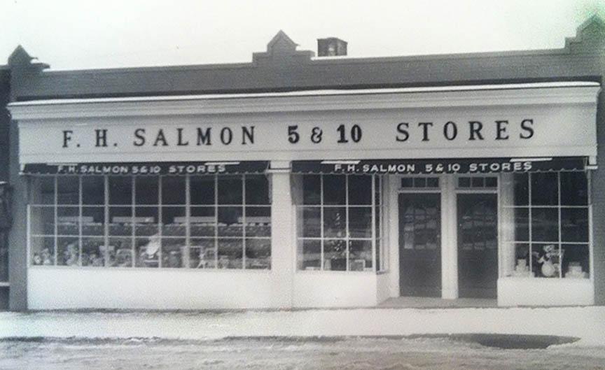 Bernardsville store in the 1940's renamed F.H.Salmon Stores